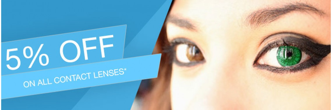 5% off on all contact lenses